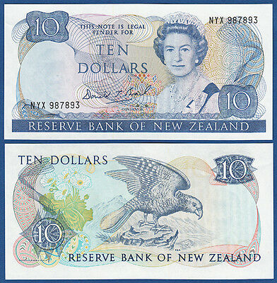 NEUSEELAND / NEW ZEALAND 10 Dollars (1989-92) aUNC  P.172 c