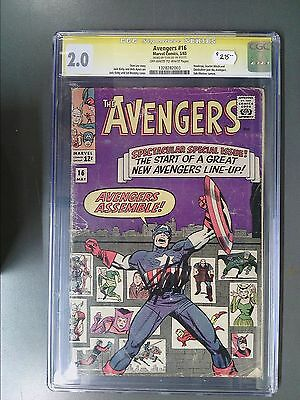 CGC 2.0 Signature Series Avengers #16 Autographed by Stan Lee!