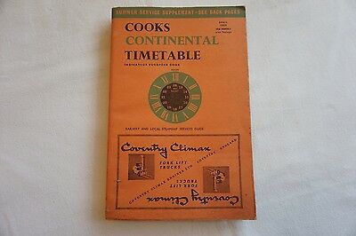 April 1965 Cooks Continental Timetable Railway & Local Steamship Services Guide