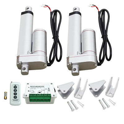 "2 Set 4"" 12V Multi-function Linear Actuator & Remote Control,Bracket for Lifting"