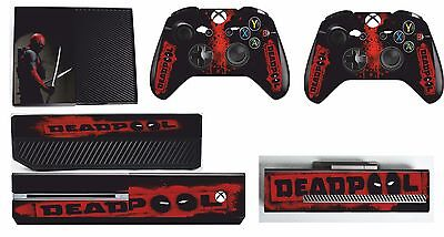 DEADPOOL xbox one skins decals stickers + kinect + 2 controllers Game