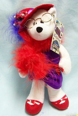 """Red Hat Lady Collectible Stuffed Bear 9"""" tall Limited Treasures Cute Bear"""