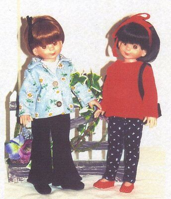 """Doll Clothes Pattern fits 12-14"""" Little Darlings EFFNER BETSY McCALL KISH BJD'S"""