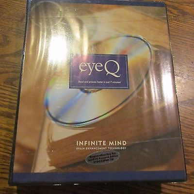 eye Q by infinite mind DVD PC Disc book set complete read process faster (P)