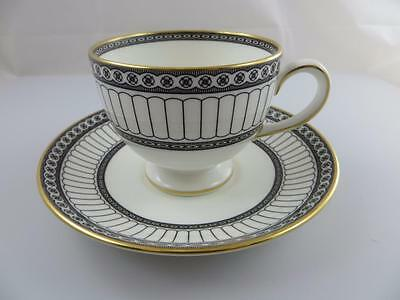 Cup & Saucer Set COLONNADE BLACK Wedgwood China