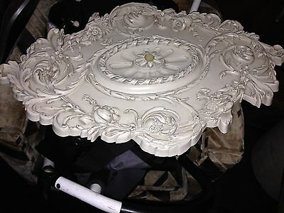 Gorgeous Ornate Ceiling Medallion Victorian ? Baroque ?