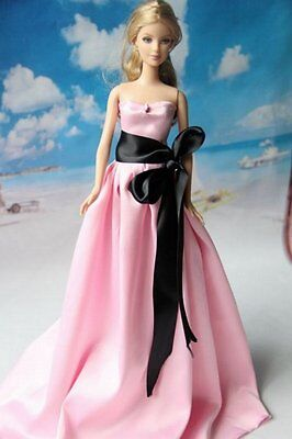 New fashion handmade Wedding Clothes Gown Party Dresses for Barbie Doll
