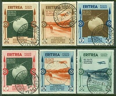 ERITREA : 1934. Scott #C1-6 Very Fine, Used. Nice cancels. Catalog $160.00.