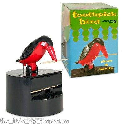Toothpick Dispensing Bird - Tiki Bar Man Cave Gift