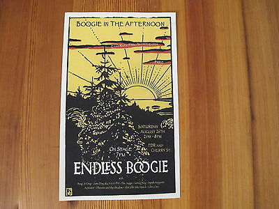 ENDLESS BOOGIE at EAST RIVER PARK AMPHITHEATER OLD ORIGINAL MINI POSTER