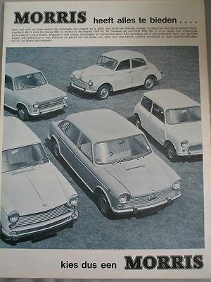 Morris range brochure c1968 Dutch text