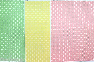 3 Sheets Pink/Green/Yellow Backing Paper A4 NEW