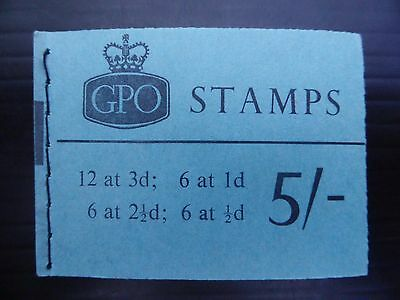 GB Wilding Nov 1964 - 5/- Booklet H71p with Cyl 20 Dot 3d Pane FP8284