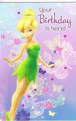 Disney Fairies Tinkerbell Your Happy Birthday Is Here Girl Any Age New Card