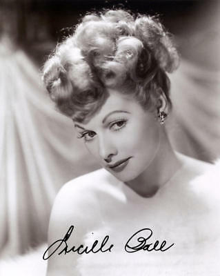 1940/50S Autographed 8X10 Signed By Lucille Ball Glamorous Photo Reprint