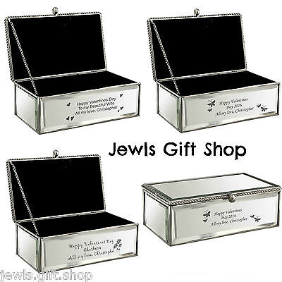 Jewellery box personalised Butterfly Flower or Hearts design Birthday gift idea