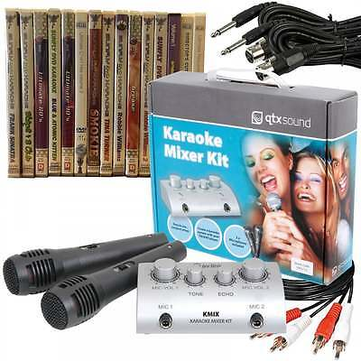Sunfly DVD Karaoke TV Mixer Kit inc 15 New Karaoke Discs 174 Tracks