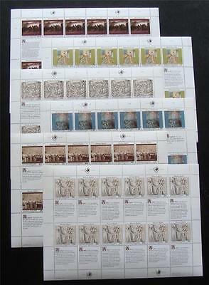 U.N. MNH 1990 Human Rights full sheets From All 3 Offices