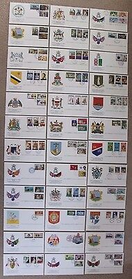 Commonwealth  QEII Elizabeth  Silver Jubilee  1977  Lot / Collection  Cover x 36