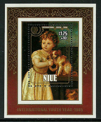 Niue #492 Mint Never Hinged S/Sheet - Children Painting