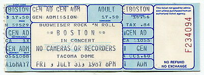 "Original Complete Unused 1987 Concert Ticket: ""BOSTON"" [Tacoma Dome]"