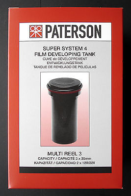 """Paterson System 4   (3 Reel Sized)  Film Developing Tank  """"new Stock"""""""