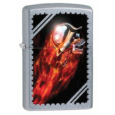Zippo Skull Street Chrome Regular Lighter Brand New