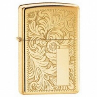 Zippo Venetian High Polish Brass Lighter Brand New