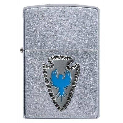 Zippo Arrowhead Emblem Street Chrome Regular Lighter Brand New