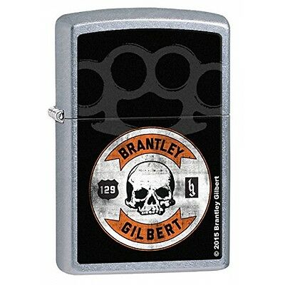 Zippo Brantley Gilbert Skull Street Chrome Regular Lighter  Brand New