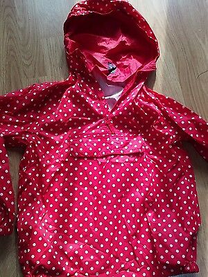 Girls mac in a bag waterproof jacket fit age 9-10 in ex cond