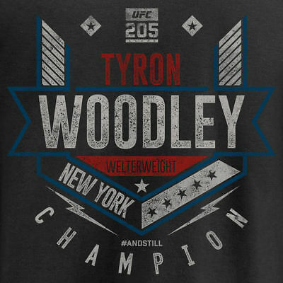 Tyron Woodley UFC 205 #andstill Welterweight Champion T-Shirt  - Black - MMA