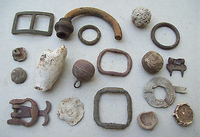Dug Lot Metal Detecting Finds 1600's-1800's.  Unresearched uncleaned