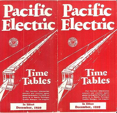 Pacific Electric Ry,SYSTEM interurban passenger timetable,  Dec, 1929, 39 pgs