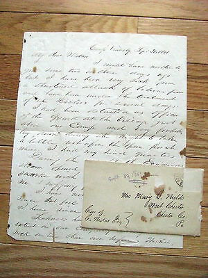 30Th Pennsylvania Civil War Letter Camp Tennaly Maryland