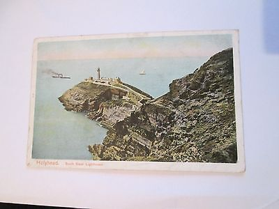 Postcard of Holyhead, South Stack Lighthouse posted 1906