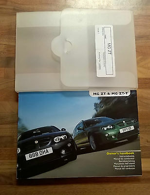 MG ZT 2004 on Service & Hand book pack Part Number VDC000570ENG NOS