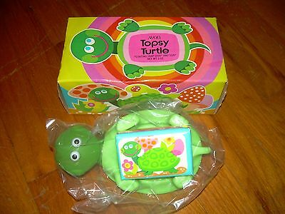 Vintage Avon Topsy Turtle Floating Soap Dish & Soap NIB Collectible