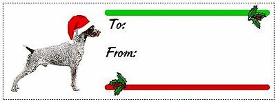 German Shorthaired Pointer Christmas gift tags WATERPROOF 120 pieces