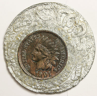 1901 UNC Lucky Penny Store Token.  98047