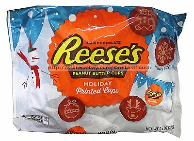 HERSHEY'S^ 9.6 oz Bag REESE'S Printed Cups HOLIDAY Milk Chocolate Candy Exp 8/17