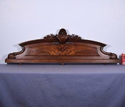"48"" French Antique Pediment/Crest in Burl Walnut"