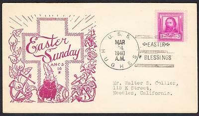 Destroyer USS HUGHES DD-410 Easter 1940 Naval Cover
