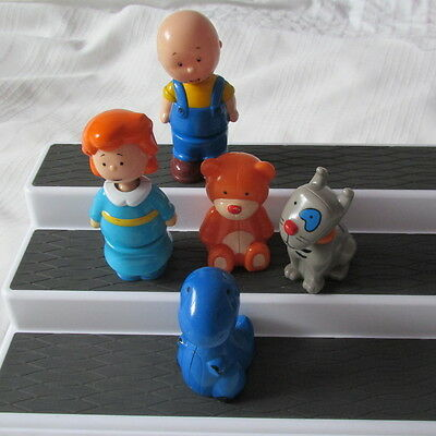 Caillou Insertable Figures Lot 5 Rosie Gilbert Rexie Teddy