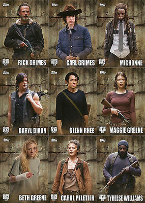 Walking Dead Season 5 ~ MINI-MASTER SET (Base + 3 Insert Sets) 135 cards ~ Topps