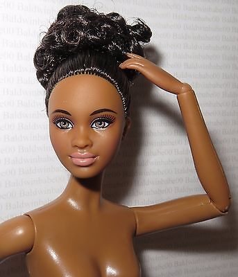 * Nude Barbie ~ Raven Aa Night Out Mbili Articulated Model Muse Doll For Ooak