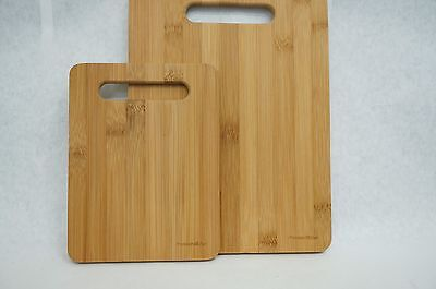 Premium Bamboo Cutting Boards Set Of 2 Chopping Kitchen Natural