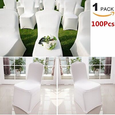 100pcs Spandex Stretch Chair Covers Wedding Party Banquet Hotel Ceremony Events