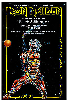 Iron Maiden * Somewhere in Time * Tour Concert Poster 1987  Wide Format 24x36
