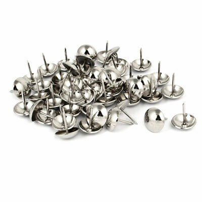 Home Metal Round Domed Head Upholstery Tack Nail Silver Tone 19mm Dia 50pcs